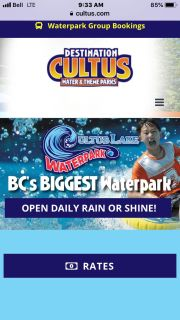 Cultus lake water slides plus adventure park and lunch