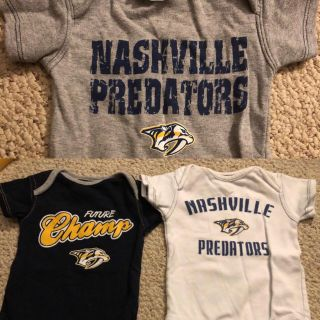 Brand new never worn. Three 0/3 mo onesies. Official NHL GEAR Nashville Predators. $20 for all 3