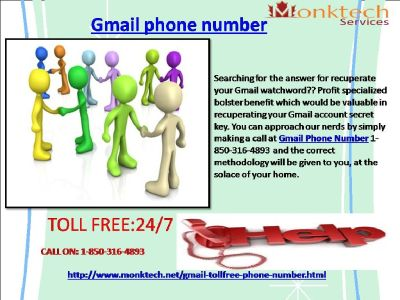 What To Do To Get Gmail Phone Number 1-850-316-4893?