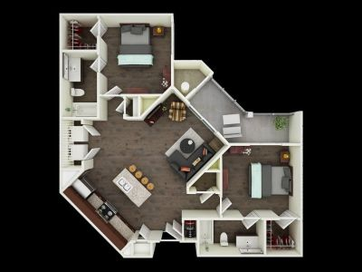 Apartment Sublease - Full 12 Month Contract - 2 bedroom + 2 bath