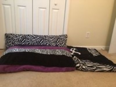 Comforter, body pillow and throw blankets
