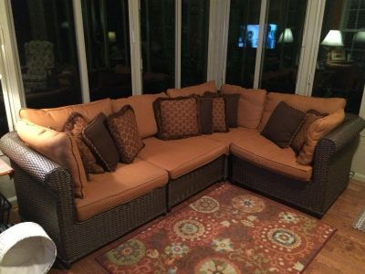Outdoor L shaped couch