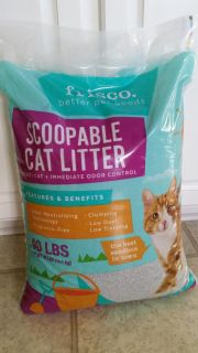 40 lbs Scoopable, Clumping Cat Litter. Brand New. Never Been Open.