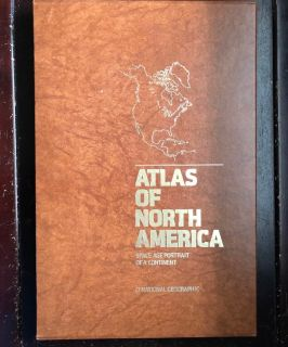 Vintage National Geographic ATLAS of North American 1985 in slipcase