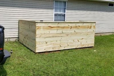 Want to hide that old ugly AC unit? Custom built walls!