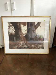 Two Brown Trees Picture 32 x 26