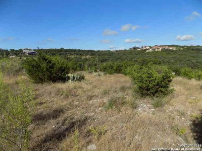 Lot 106 Blue Diamond Boerne, view lot with gentle slope that
