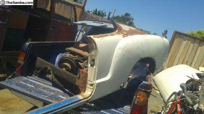 1967-69 rear quarter panel, inner fender luggage