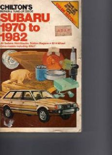 $10 Chiltons Subaru 1970 to 1982 service manual $