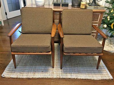Pair Of MCM Danish Walnut Chairs