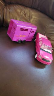 Barbie truck and trailor