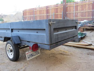 "4' x 8' Licensed Utility Trailer with 18"" sides"