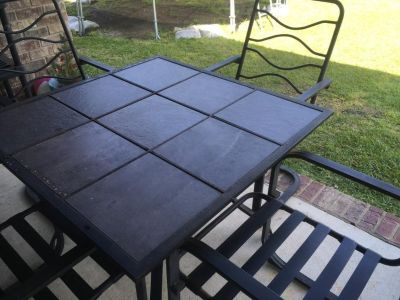 Tile table with 4 chairs