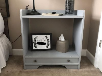 Gray Wood TV Stand or Night Stand