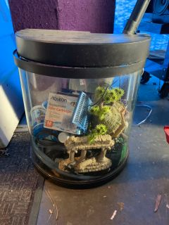 Fish Tank, with decor, cleaner, and more!