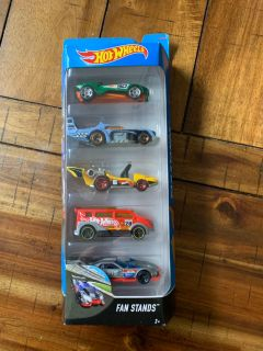 Set of five hot wheels