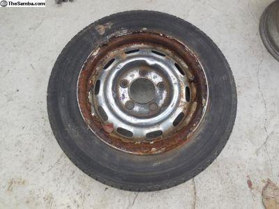 Porsche 911 / 912 Original LEMMERZ Steel Wheel FL