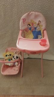 Disney Princess baby doll carrier and high chair