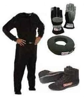 Buy Racequip 2 piece Driving Suit Neck Brace - Gloves Shoes motorcycle in Lincoln, Arkansas, United States, for US $230.00