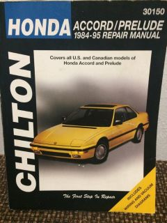 CHILTON HONDA MANUAL