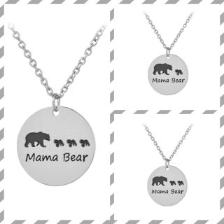 Mama Bear Pendant Necklace with One, Two and Three cubs ONE LEFT OF EACH! $3 each!