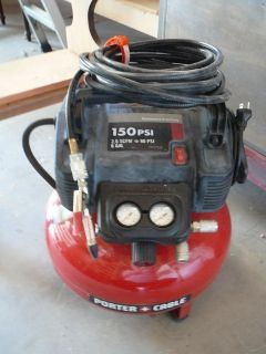 Porter Cable air compressor with many extras