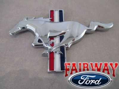 Find 16 Mustang OEM Ford California Special Chrome Tri-Bar Pony Horse Grille Emblem motorcycle in Canfield, Ohio, United States, for US $48.95