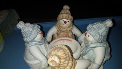EUC Snowmen Candle Holder (See other photos for different angles)