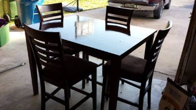 tall table 4 chairs