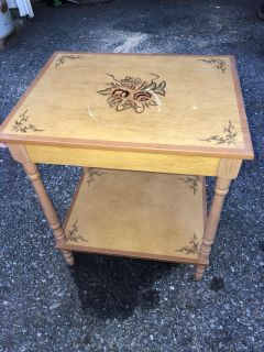 Side table solid wood