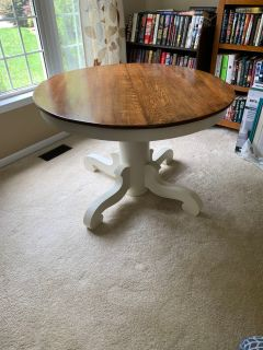 Solid Wood Table, 3 Chairs