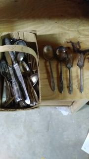 Vintage silverware. Used for decor