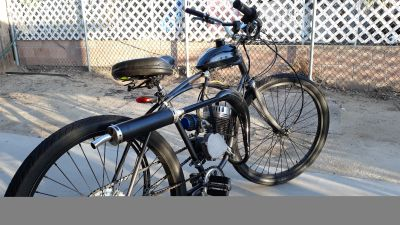 Motorized bicycle with 80cc 2 stroke motor