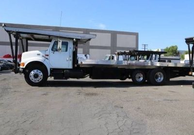 2000 International 4900-Flatbed-Tow-Truck