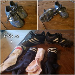 Soccer cleats and socks