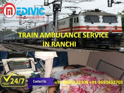 Quick Response Medical Care Train Ambulance Service in Ranchi by Medivic