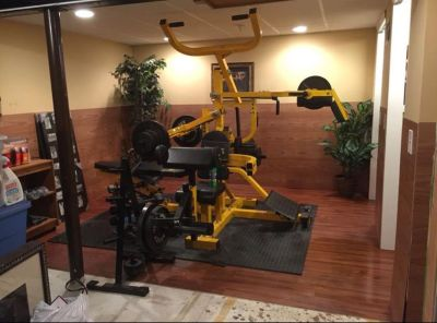 Gym equipment, accessories, mat and weights