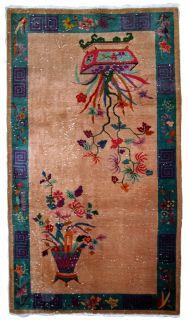 Handmade antique Art Deco Chinese rug, 1B639