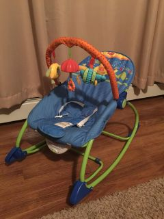 Infant bouncer/toddler Rocker by fisher price