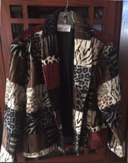 NEW! Solei Tapestry Animal Print Jacket - Sz Med