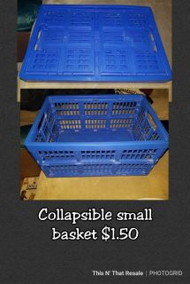 Collapsible small basket