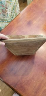 Beautiful solid wood old dough bowl