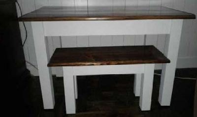 Farmhouse Children's Table and Bench