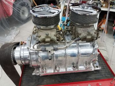 Mooneyham 671 polished BDS supercharger blower BBC Chevy big