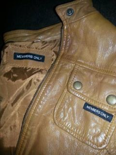 Leather Members Only Jacket