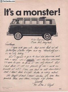 1964 1 Page Bus Magazine Print Ad #113