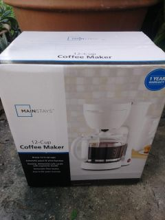 12-Cup Coffee Maker. Never used or opened. OBO