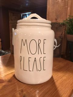 Large More Please Rae Dunn Canister