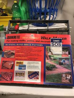Walk maker. For making walks, patios, and decorating your yard.