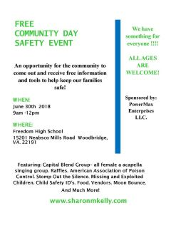 Safety Awareness Community Day June 30, 2018